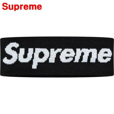Black【Supreme x New Era Big Logo Headband シュプリーム x ニューエラ ビッグロゴ ヘッドバンド 黒 ブラック 2018AW 国内正規品】