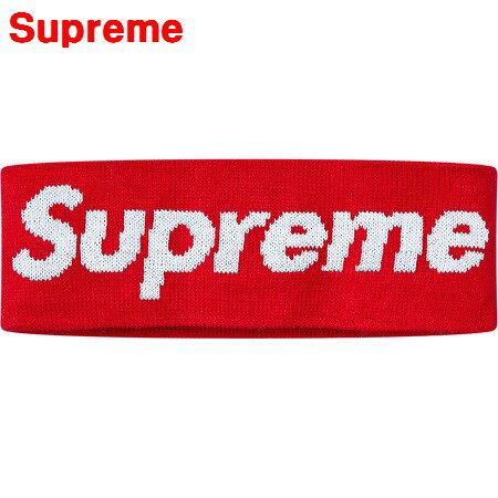 人気 Red【Supreme x New Era Big Logo Headband シュプリーム ニューエラ ビッグロゴ ヘッドバンド 赤 レッド 2018AW 国内正規品】