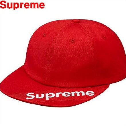 Red【2018SS Supreme Visor Label 6-Panel シュプリーム バイザー ラベル 6パネル キャップ 帽子 CAP ロゴキャップ18SS レッド 赤 BOX LOGO ボックスロゴ】