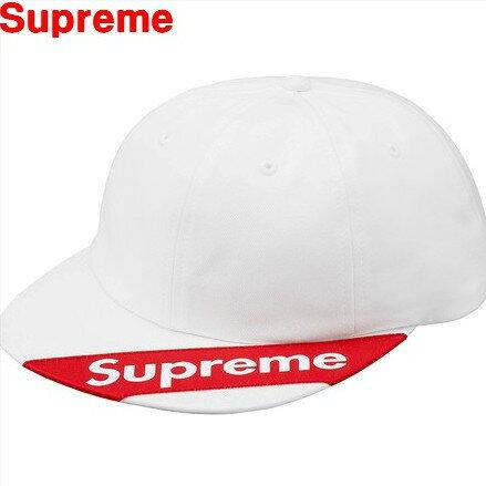 White【2018SS Supreme Visor Label 6-Panel シュプリーム バイザー ラベル6パネル キャップ 帽子 ロゴキャップ 18SS ホワイト 白 BOX LOGO ボックスロゴ】