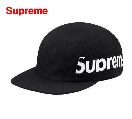 BLACK【Supreme シュプリーム 18AW Side Panel Camp Cap サイド パネル キャンプキャップ 黒 ブラック】