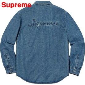 239661b53e M BLUE Supreme Sherpa Lined Denim Shirt シュプリーム シェルパ ラインド デニム シャツ ブルー 青  2018AW