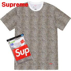 XL 【Supreme x Hanes 19SS Leopard Tagless Tees シュプリーム x ヘインズ Tシャツ 豹柄 ヒョウ柄 レオパード 2019ss】