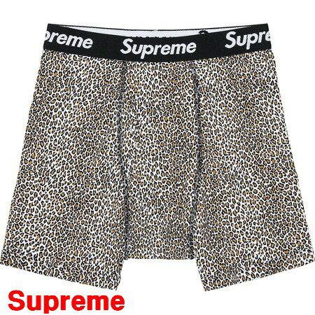 L 【Supreme x Hanes 19SS Leopard Boxer Briefs シュプリーム x ヘインズ ボクサー ブリーフ パンツ 豹柄 ヒョウ柄 レオパード 2019SS】