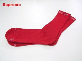 1足 Red 赤【Supreme x Hanes Crew Socks シュプリーム x ヘインズ ハイソックス 靴下 レッド】