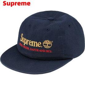Navy【Supreme 20SS Timber land 6-Panel シュプリーム キャップ ティンバーランド 帽子 野球帽 メンズ レディース 紺 ネイビー】