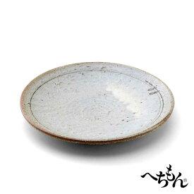 【信楽焼】へちもん 鉄線 24cm皿