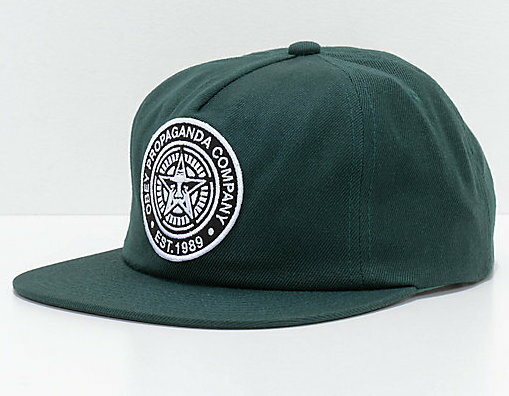 Obey Established 89 II Snapback Hat Cap Spruce キャップ 送料無料