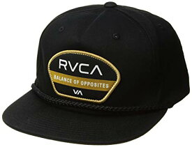 RVCA Opposite Snapback Hat Cap Black キャップ 送料無料