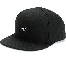 Obey Worldwide Snapback Hat Cap Black キャップ 送料無料
