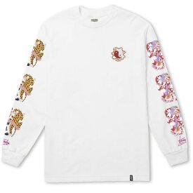 HUF Chloe K Yin-Yang L/S T-Shirt White M Tシャツ 送料無料