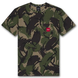 HUF Woven Label Pocket T-Shirt Camo S Tシャツ 送料無料