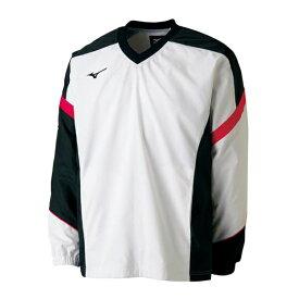 ミズノ ウィンドブレーカーシャツ 62JE7001 01 ホワイト ユニセックス 男女兼用