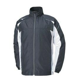 ミズノ ウインドブレーカー マルチウォーマーシャツ 32JE8590 09 ブラック×ホワイト×アロイグレー ネーム刺繍無料