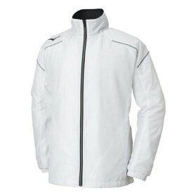 ミズノ ウインドブレーカー マルチウォーマーシャツ 32JE8591 01 ホワイト ネーム刺繍無料