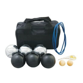 サンラッキー ペタンク ブラック球 シルバー球セット SRP-29 国際連盟公認球