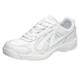 アサヒ グリッパー38 ホワイト KD78771 スクール グランド 運動靴 通学シューズ 中学校 高校