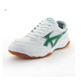 ムーンスター ジムスターS400 W/グリーン 高機能体育館シューズ インドア 子供靴/メンズ/レディース