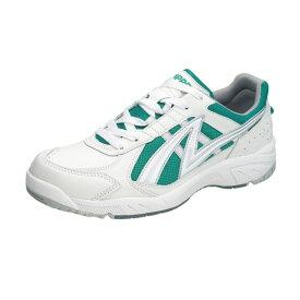 アサヒ グリッパー38 ホワイト/グリーン KD78775 スクール グランド 運動靴 通学シューズ 中学校 高校