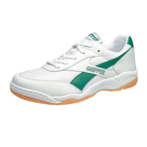 アサヒ グリッパー34 ホワイト/グリーン KD78644 インドア 体育館シューズ 中学校 高校