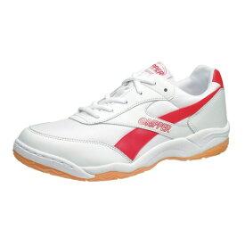 アサヒ グリッパー34 ホワイト/レッド KD78642 インドア 体育館シューズ 中学校 高校