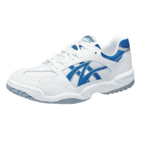 アサヒ グリッパー33 ホワイト/ブルー KD78635 スクール グランド 運動靴 通学シューズ 中学校 高校