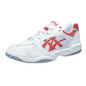 アサヒ グリッパー33 ホワイト/レッド KD78632 スクール グランド 運動靴 通学シューズ 中学校 高校
