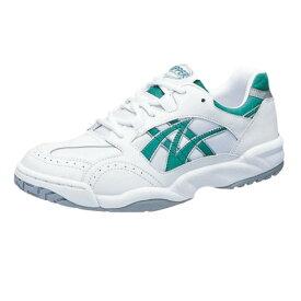 アサヒ グリッパー33 ホワイト/グリーン KD78634 スクール グランド 運動靴 通学シューズ 中学校 高校