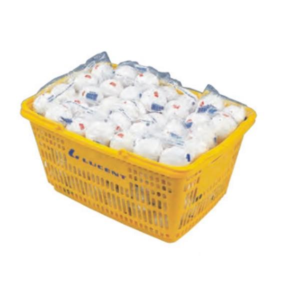 【SHOWA】ショーワコーポレーション アカエムソフトテニスボール公認球(10ダース・カゴ入り) M-30030