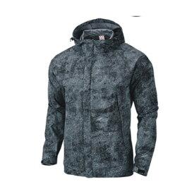 wundou(ウンドウ) アウトドアウインドブレーカージャケット ユニセックス 男女兼用 撥水 P4610 ブラックミックスホワイト