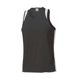 ウンドウ wundou ランニングシャツ P5510-66 ブラック×ホワイト