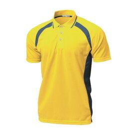 ウンドウ wundou ベーシックテニスシャツ P1710-21 イエロー
