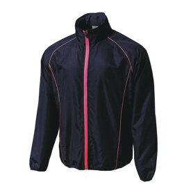 ウンドウ wundou ウォームアップウインドブレーカージャケット  P4800-82 ネイビー×蛍光ピンク