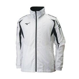 ミズノ ウィンドブレーカーシャツ 32JE8015 01 ホワイト×ブラック ユニセックス 男女兼用