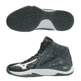 ミズノ ジュニア バスケットボールシューズ ウエーブチェイサー W1GC1960 01 ブラック×ホワイト×ダークグレー JRモデル