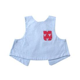 097dff2571cef4 【メール便可】SOULEIADO ソレイアード 着るスタイ シャツ ブルー