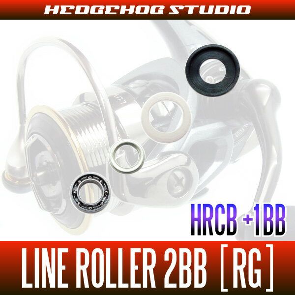 HEDGEHOG STUDIO(ヘッジホッグスタジオ) ダイワ用 ラインローラー2BB仕様チューニングキット [RG] (18カルディア対応)【HRCB防錆ベアリング】