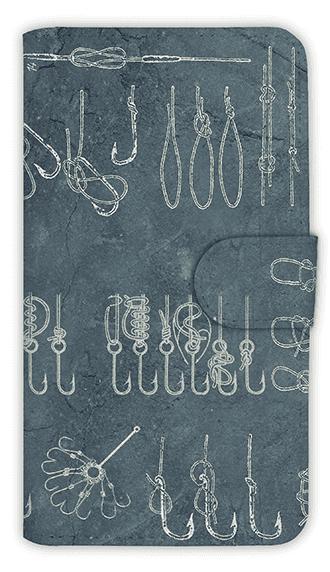 [アングラーズケース] 【手帳型】ハリや糸の結び方 ノット集 (商品コード: diary2015110707)