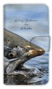 [アングラーズケース] 【手帳型】アラスカのキングサーモン (商品コード:diary2015111806)