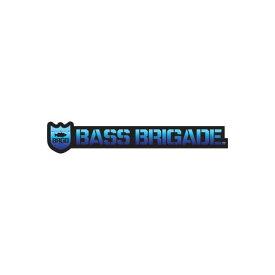 [Bass Brigade/バスブリゲード] SHIELD AND WORDMARK STICKER 【5インチ】 - BLACK/OCEAN (code:BRD104)