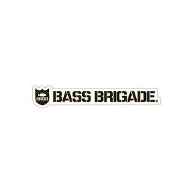[Bass Brigade/バスブリゲード] SHIELD AND WORDMARK STICKER 【5インチ】 - WHITE/BLACK (code:BRD108)