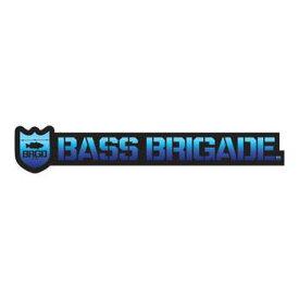 [Bass Brigade/バスブリゲード] SHIELD AND WORDMARK STICKER 【10インチ】 - BLACK/OCEAN (code:BRD110)