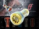 【リブレ/LIVRE】 ff(フォルティシモ) チタニウムハンドルノブ 【ファイヤー/ゴールド】 【1個入り】 HKAL ※送料…