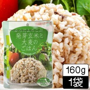(55)発芽玄米と大麦のごはん 160g レトルトパック レンジで3分お手軽 雑穀ごはん