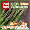【送料無料】会津産グリーンアスパラガス3Lサイズ 1kg