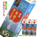 【送料込】【+1本プレゼントキャンペーン♪】葉とらずりんごジュース 1000ml×5本