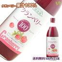 (55)【送料無料】クランベリージュース 500ml×5本