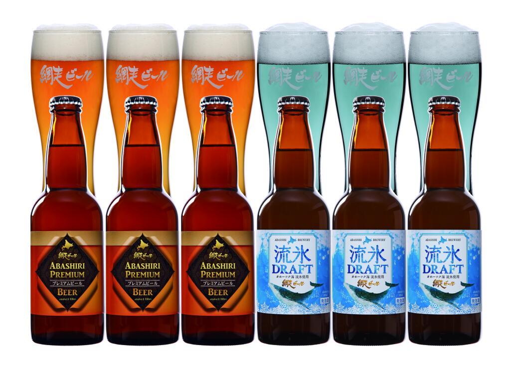 【北海道 地ビール】【送料無料】網走ビール 流氷ドラフト+プレミアム6本セット