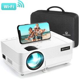 【公式】VANKYO プロジェクター 小型 HD 5,800ルーメン Leisure 470 スマホにwifi接続 ホームシアター スマホ 1920×1080最大解像度 TV Stick/HDMI/X-Box/Laptop/iPhone/ゲーム機に接続可 送料無料 三年保証