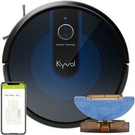 Kyvol E31 ロボット掃除機 水拭き 乾拭き お掃除ロボット 2色あり 3000Pa 強力吸引 超薄型 畳 静音 自動充電 Alexa WiFi 落下防止 衝突防止 150分間連続稼働 掃除ロボット 境界線テープ 送料無料 二年保証
